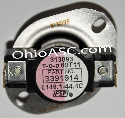 3391914 Dryer Hi Limit Thermostat