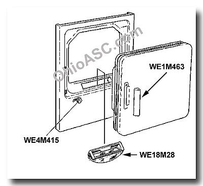we4m415 dryer door switch ge hotpoint kenmore