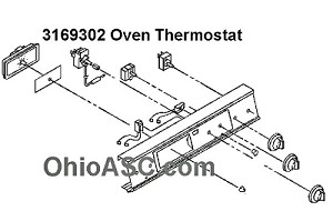 3169302 Range Oven Thermostat