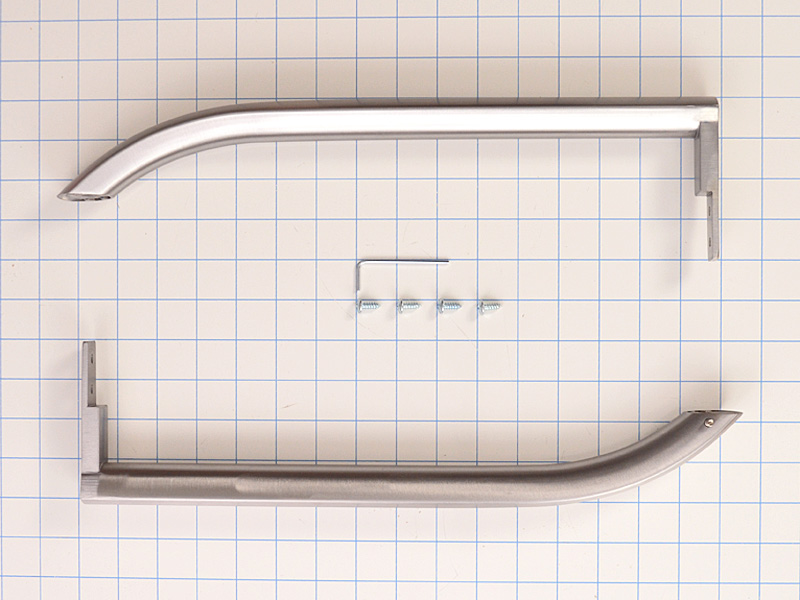 Stainless Steel Refrigerator Door Handle Set 242075501