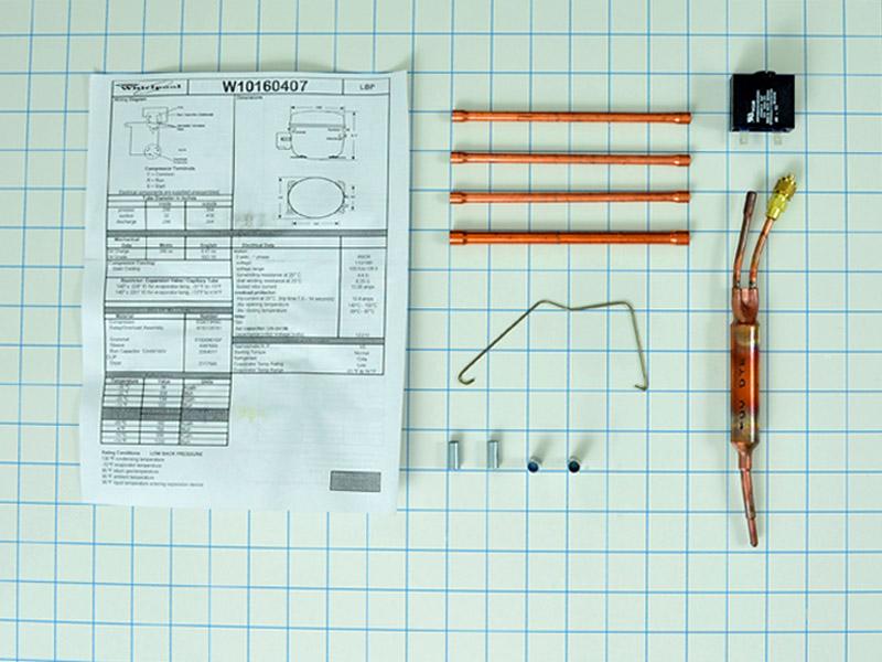 Refrigerator Compressor Kit W10160407 Ap4357103