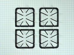 316252642 Gas Range Black Burner Grate Set