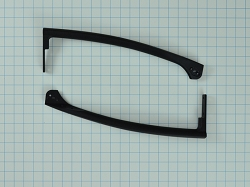 5304492128 - Refrigerator Black Door Handle Kit