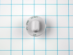 WP71001653 Cooktop White Burner Knob AP6010668, PS11743852