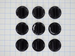 814362 Range Knob Set, 9-piece AP3139541, PS389194