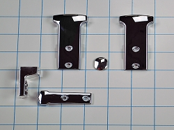 819342 Chrome Refrigerator Handle End Cap Kit