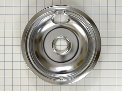 WPW10196405 Chrome Range Burner Drip Bowl - AP6016814, PS11750107