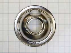 W10196406RW Stove Top Small Chrome Burner Drip Bowl (6-Inch)  AP6016815 PS11750108