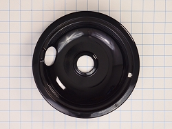 WPW10290350 Black 8-inch Range Burner Drip Pan - AP6018808, PS11752111