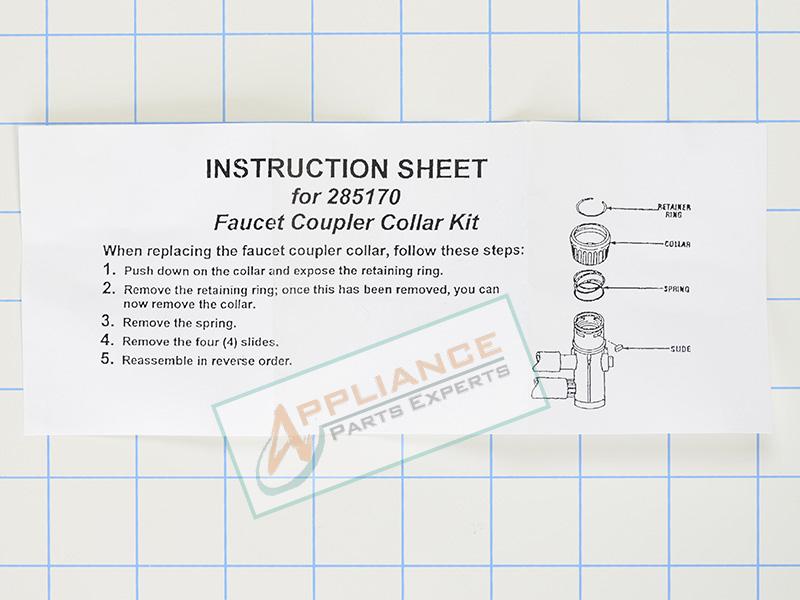 WP285170 Dishwasher Faucet Collar Kit