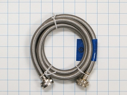 WM-50-185 Stainless Washer Hose - 5 ft