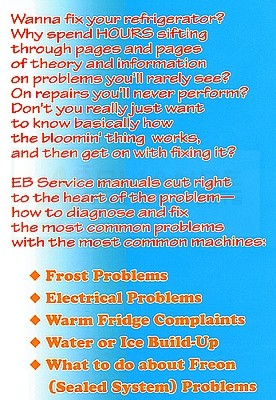 Refrigerator Repair Manual For The Do It Yourselfers
