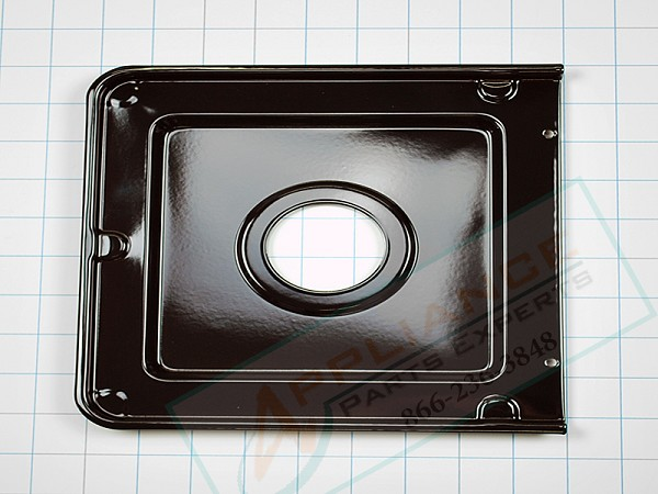 316011401 Gas Range Black Square Drip Pan